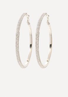 Crystal Mesh Hoop Earrings