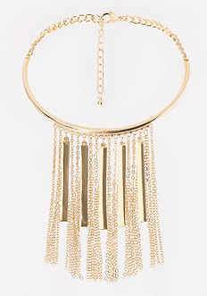 Bar Fringe Collar Necklace