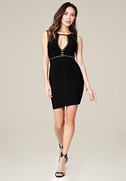 bebe Caleigh Studded Dress
