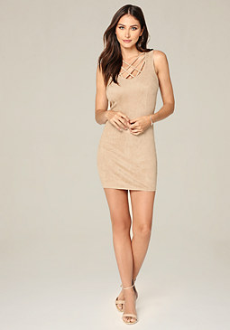 bebe Cassie Strap Detail Dress