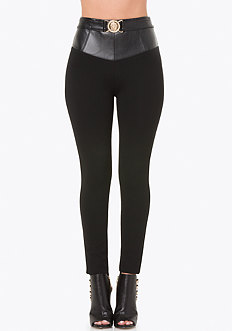 Belted High Yoke Leggings