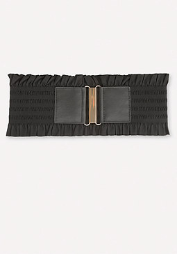 bebe Ruffle Detail Belt