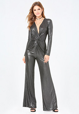 bebe Front Twist Jumpsuit