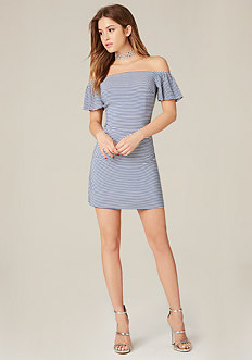 Off Shoulder A-Line Dress
