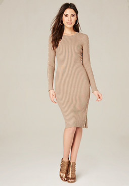 bebe Snap Sweater Dress