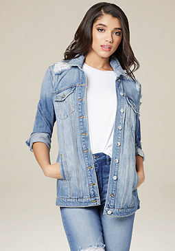 bebe Destroyed Boyfriend Jacket