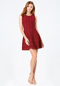 bebe Adeli Flared Dress