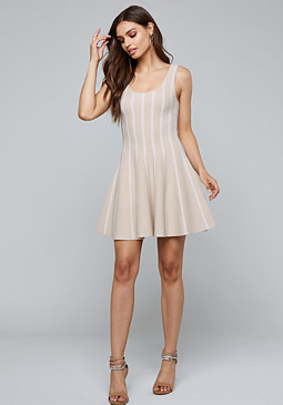 bebe Leilani Fit & Flare Dress