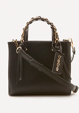 bebe Chain Trim Crossbody Bag
