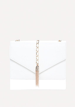 bebe Chain Tassel Crossbody Bag