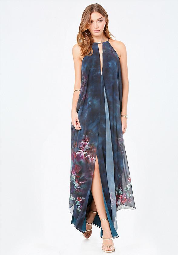 Print Double Layer Dress