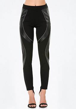 bebe Petite Arc Zip Leggings