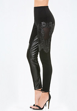 bebe Petite Mix Detail Leggings