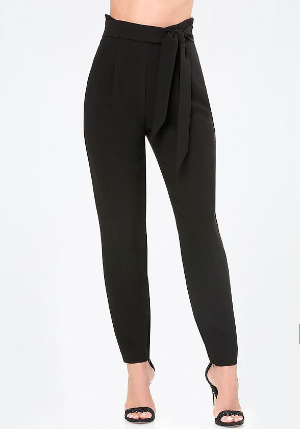 Petite Paper Bag Trousers