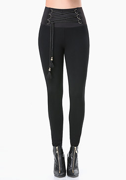 bebe Petite Corded High Leggings