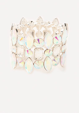 bebe AB Crystal Stretch Bracelet
