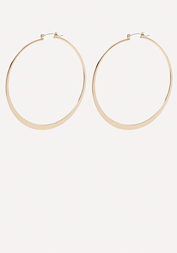 bebe Flat Hoop Earrings