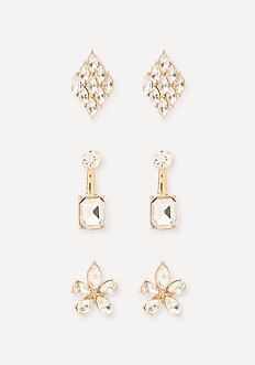Crystal Mix Earring Set