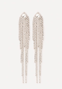 bebe Crystal Waterfall Earrings