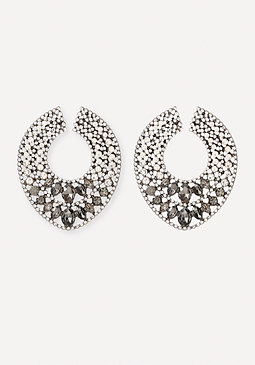 bebe Crystal Orbital Earrings