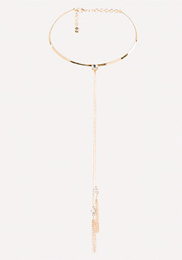 bebe Tassel Collar Necklace