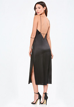 bebe Mara Silk Slip Dress