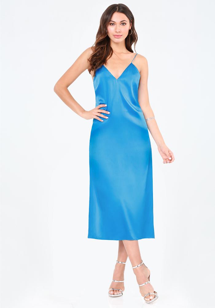 Mara Silk Slip Dress - Dresses | bebe