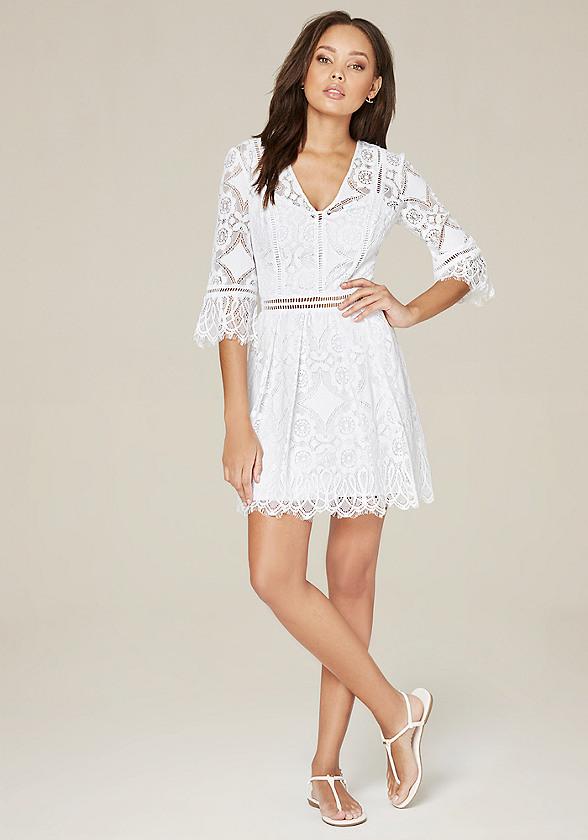 Nancy Lace 3/4 Sleeve Dress