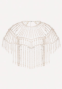 bebe Pearlescent Bead Cape