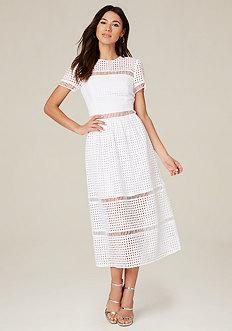 Jenna Geo Eyelet Maxi Dress