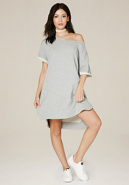 bebe Side Zip Sweatshirt Dress