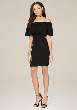 bebe Tanya Flounce Dress