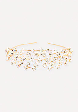 bebe Crystal Rows Headband