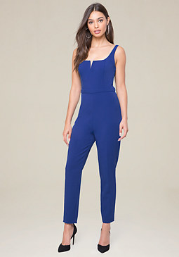 bebe V-Notch Jumpsuit