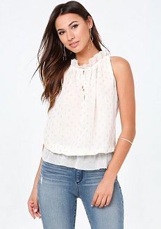 Ruffle Neck Top