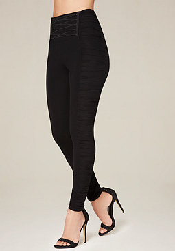 bebe Side Ruched Corset Leggings