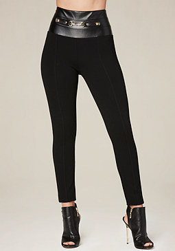 bebe Front Riding Bit Leggings