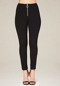 bebe Ring Zip Pull High Leggings