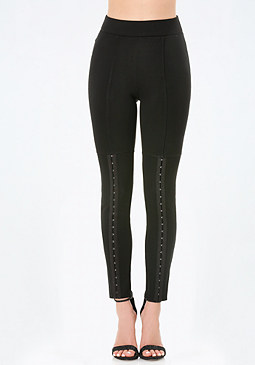 bebe Hook & Eye Trim Leggings