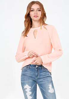 Cutout Neck Top