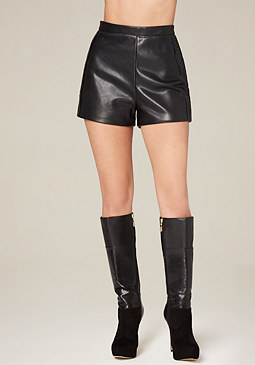 bebe Laser Cut Detail Shorts