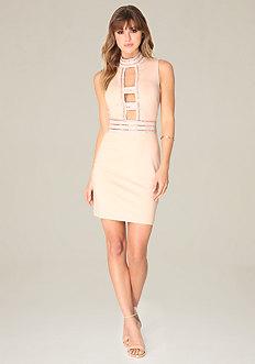 Embellished Cage Dress