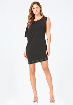 bebe Embellished 1-Sleeve Dress