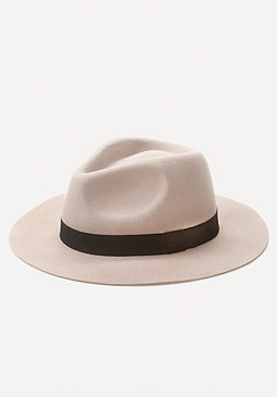 bebe Ribbon Band Wool Fedora