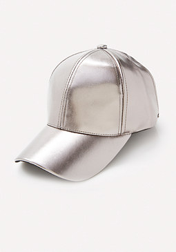 bebe Faux Leather Cap