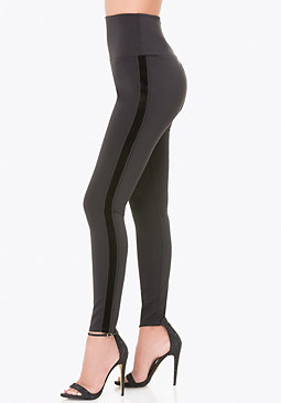 bebe Petite Striped Tux Leggings