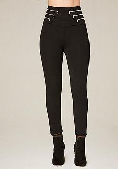 Petite Wrap Zips Leggings