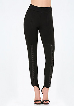 bebe Petite Hook Trim Leggings
