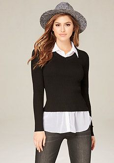 Janie 2-Fer Sweater Top