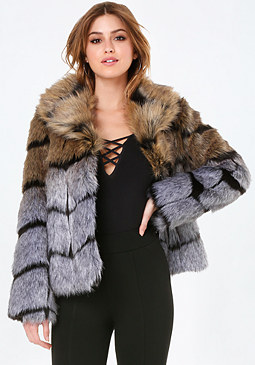 bebe Luxe Faux Fur Jacket